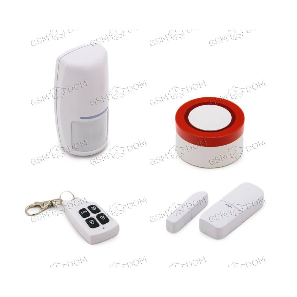 Беспроводная охранная Wi-Fi сигнализация Страж Сирена(G11)